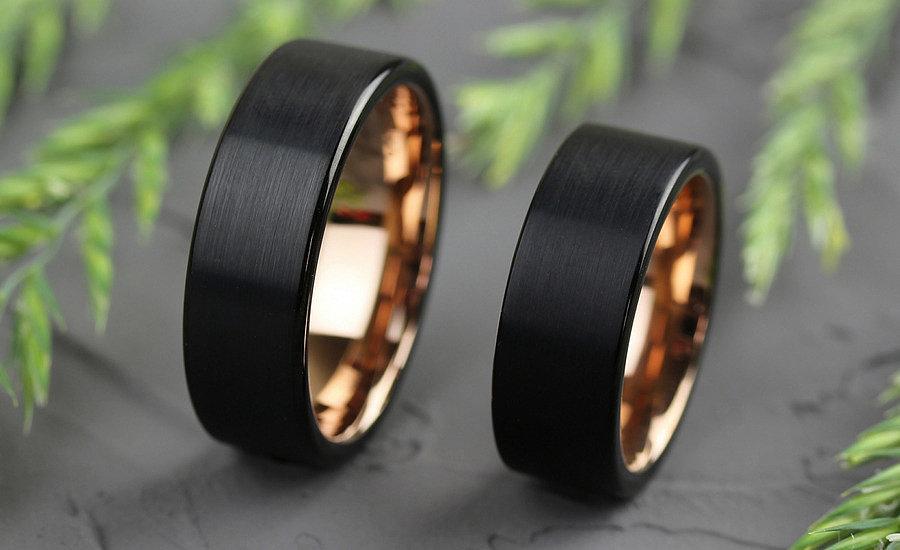 Вольфрамовые кольца с IP покрытием