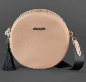Круглая сумка (crossbody) Everiot Bnote «Geometry» Tablet крем-брюле BN-BAG-23-crem-brule
