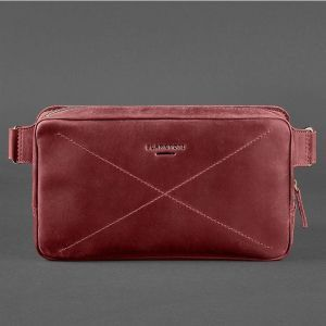 Сумка на пояс (crossbody) Everiot Bnote DropBag Maxi BN-BAG-20-vin-kr из бордовой кожи