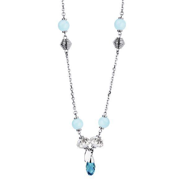 Ожерелье Everiot AAB-292NSS с бирюзовыми бусинами
