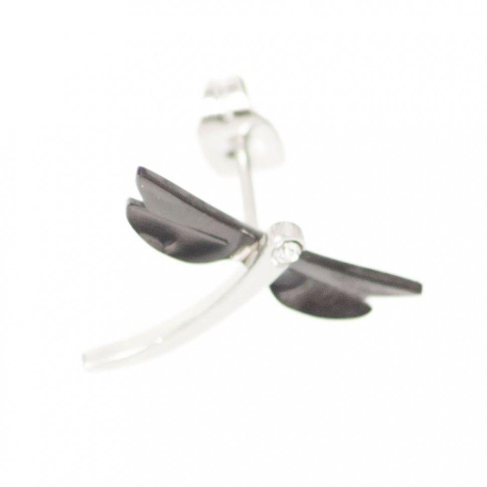 Комплект Стрекозы (кулон и серьги-гвоздики) lnt из стали